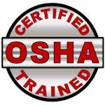 Certified OSHA Trained Hard Hat Decal - Weatherproof